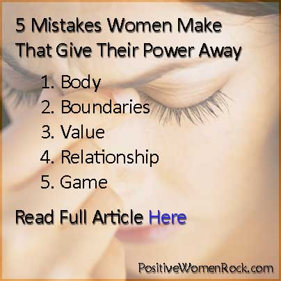 5 Mistakes Women Make article | Kelly Rudolph