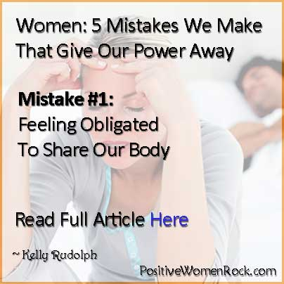 Women Feeling Obligated To Share | Kelly Rudolph