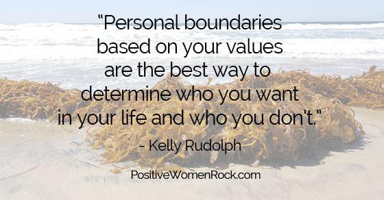 Personal Boundaries,, Kelly Rudolph