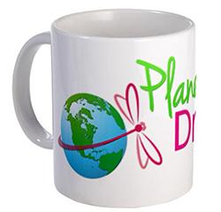 Planet Dragonfly mug - front