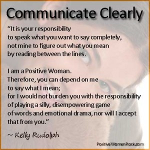 Communicate Clearly | Positive Women Rock