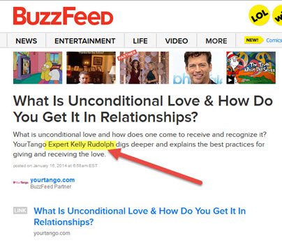 Kelly Rudolph BuzzFeed syndicated