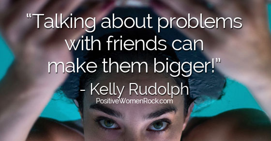 Talking about problems with friends, Kelly Rudolph
