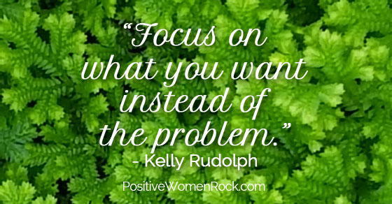 Focus on what you want, Kelly Rudolph
