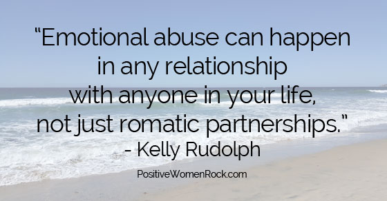 How to tell emotional abuse, Kelly Rudolph