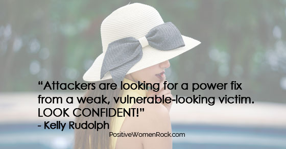Look confident to stop being a victim