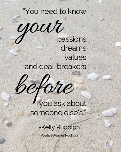 Know your deal-breakers, fall in love, Kelly Rudolph