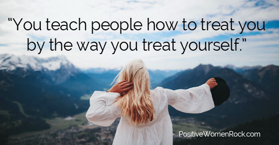 You teach people how to treat you, Kelly Rudolph, Positive Women Rock